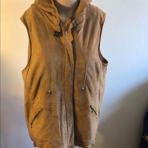 Marina Rinaldi leather vest size 21